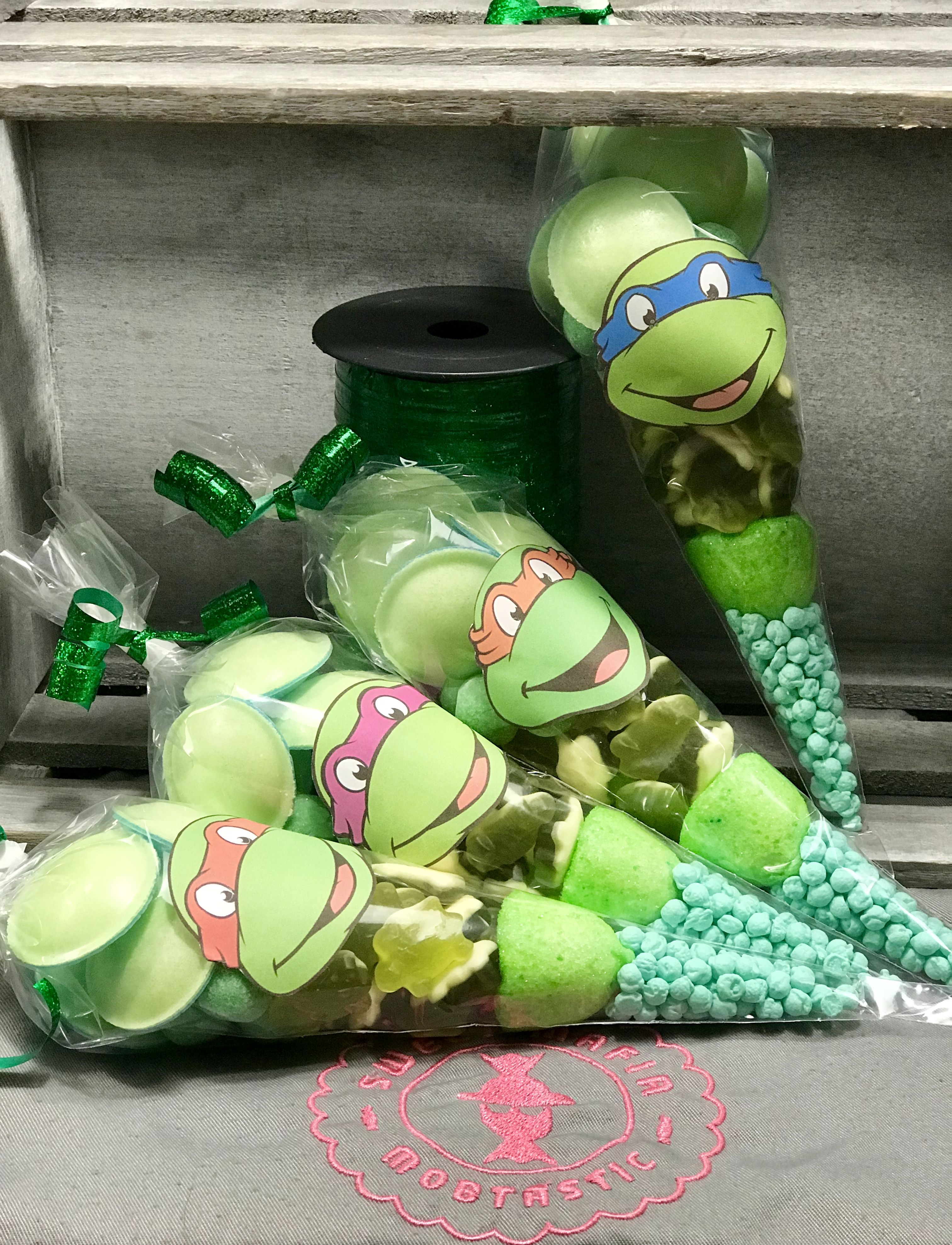 Tmnt Are Back Again Get Your Party Favors On Etsy By Sweet Mafia Ninja Turtles Birthday Party Kids Party Gift Turtle Birthday Parties