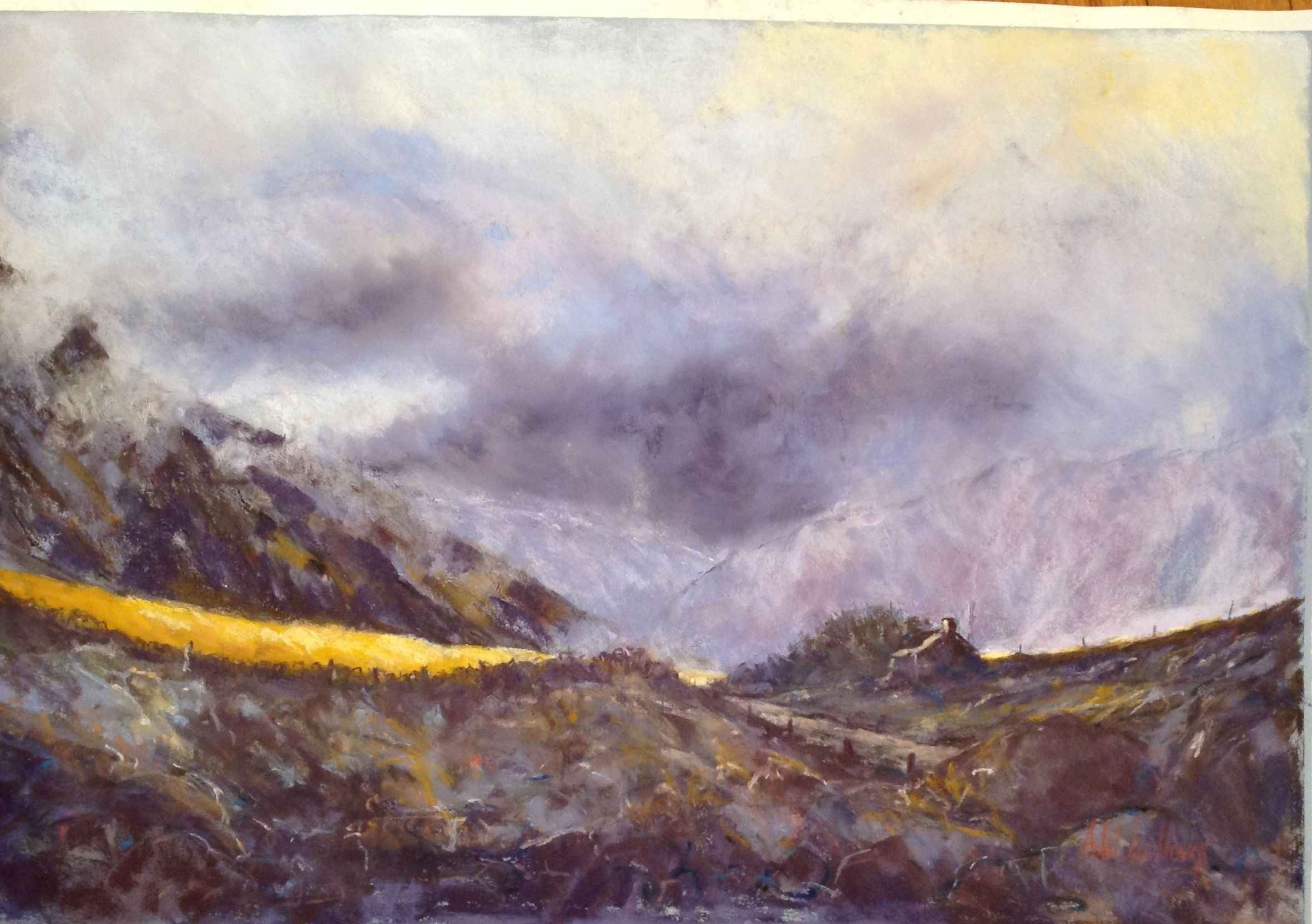 Storm over Owen - soft pastel