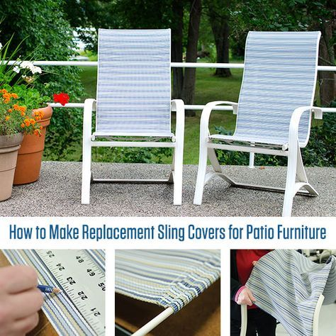 Replacing Fabric In Sling Back Director S Chairs Outdoor