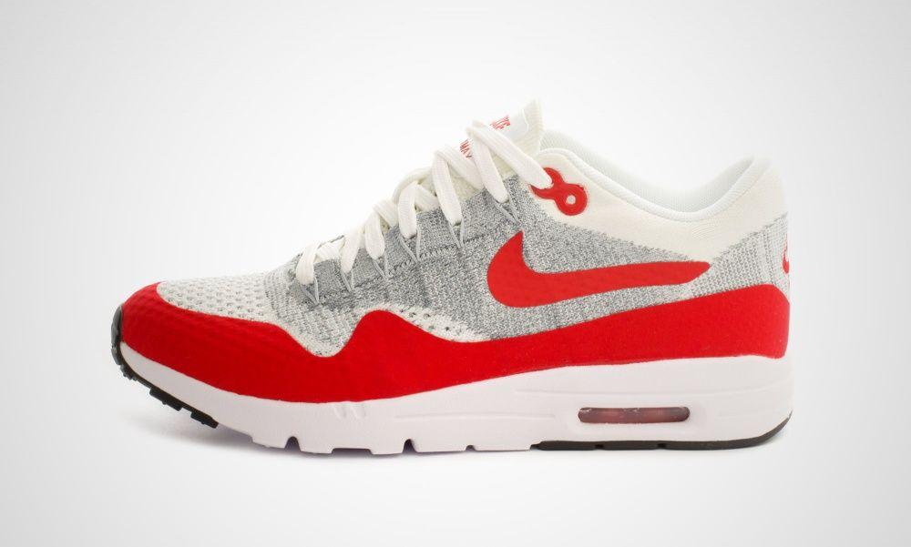 Nike WMNS Air Max 1 Ultra Flyknit (weiß rot) 843387 101