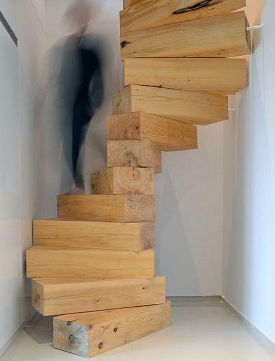 Panelar madera rustica buscar con google muebles for Escaleras de madera rusticas