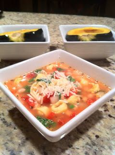 Lettuce Eat: Tortellini, White Bean, and Spinach Soup