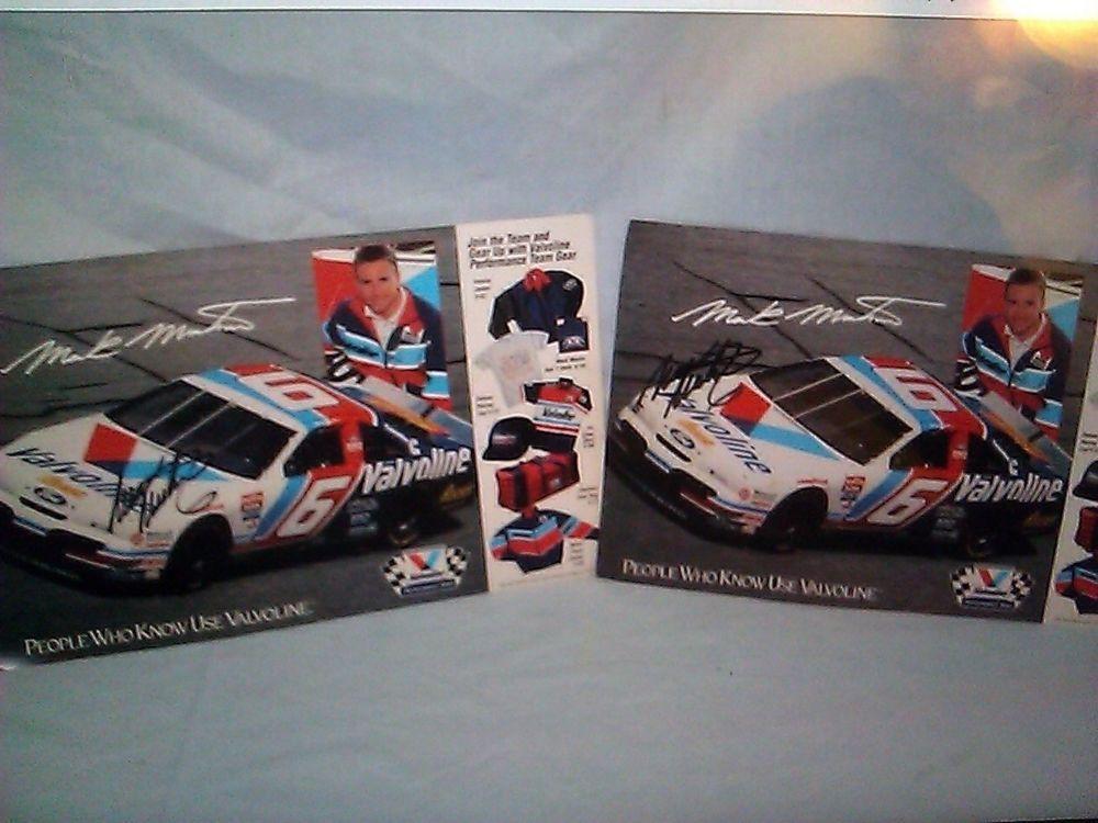 2 Two Mark Martin Signed Valvoline Nascar Roush Racing Ford Autograph Car Nascar Ebay Auction Items