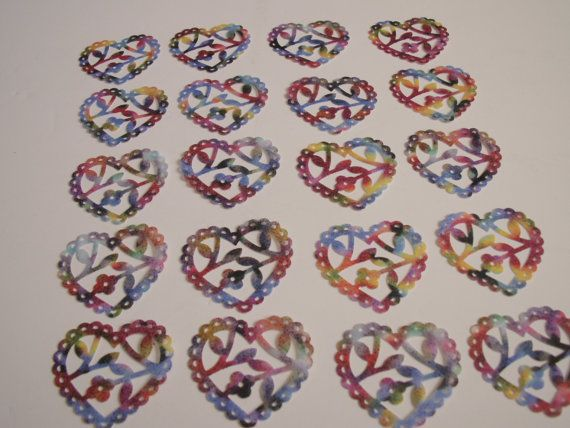 20 Scalloped Lace Heart Punch Die by TomaCraftPlace on Etsy, $4.75
