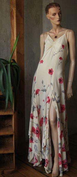 Kleider - MAXI-KLEID-FLORAL*****Unikat/handmade - ein Designerstück von raboti bei DaWanda