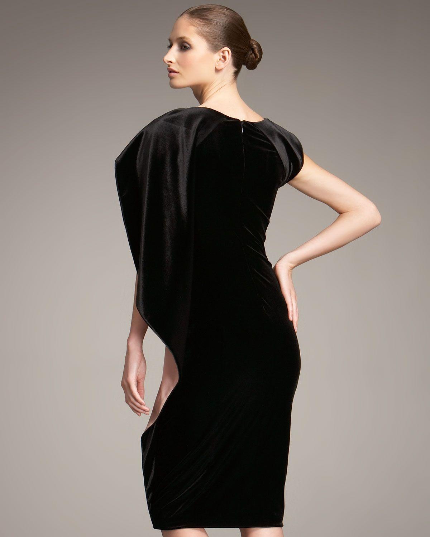 d69fd2e6e6a Giorgio Armani Cape Sleeve Velvet Dress
