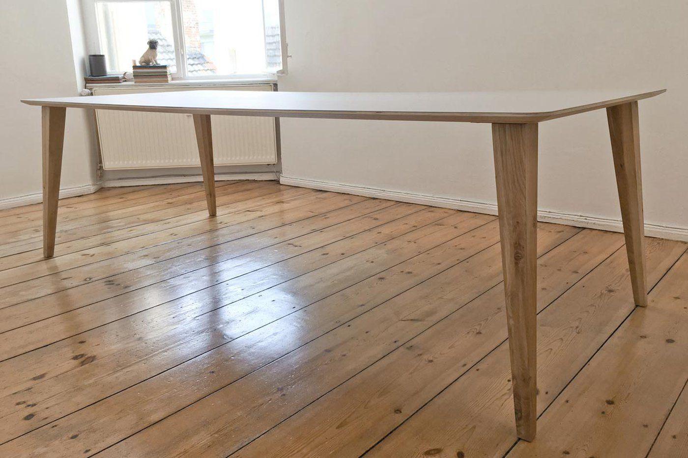 Tischbeine Holz Konisch Rana Eiche 4er Set In 2020 Tischbeine