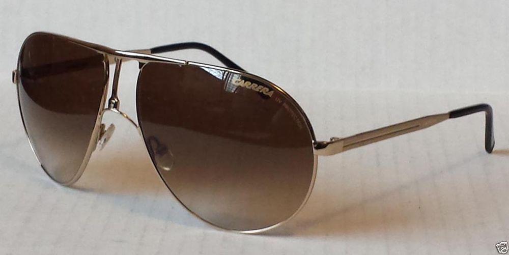 b1d543500514 CARRERA men aviator sunglasses metal gold color frame brown lenses Made in  Italy #Carrera #Aviator