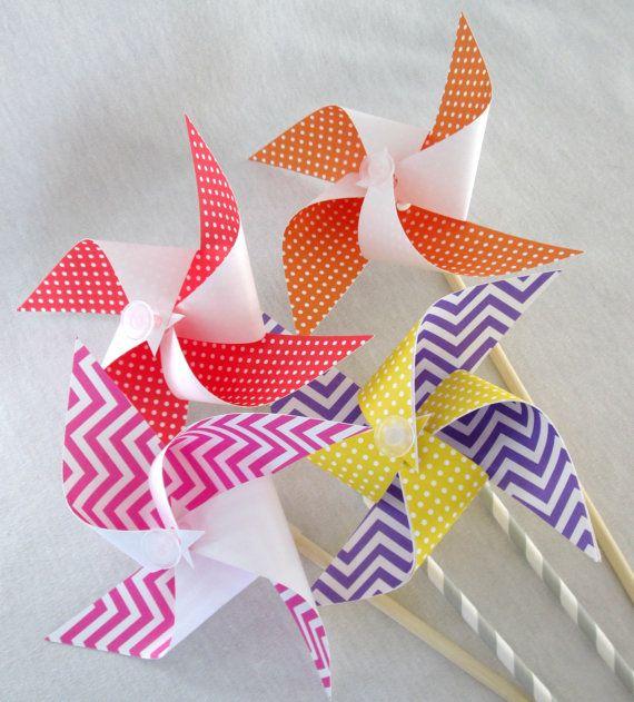 Paper Pinwheels DIY Kit Pinwheel Make It by ReadySetCraftKits ...