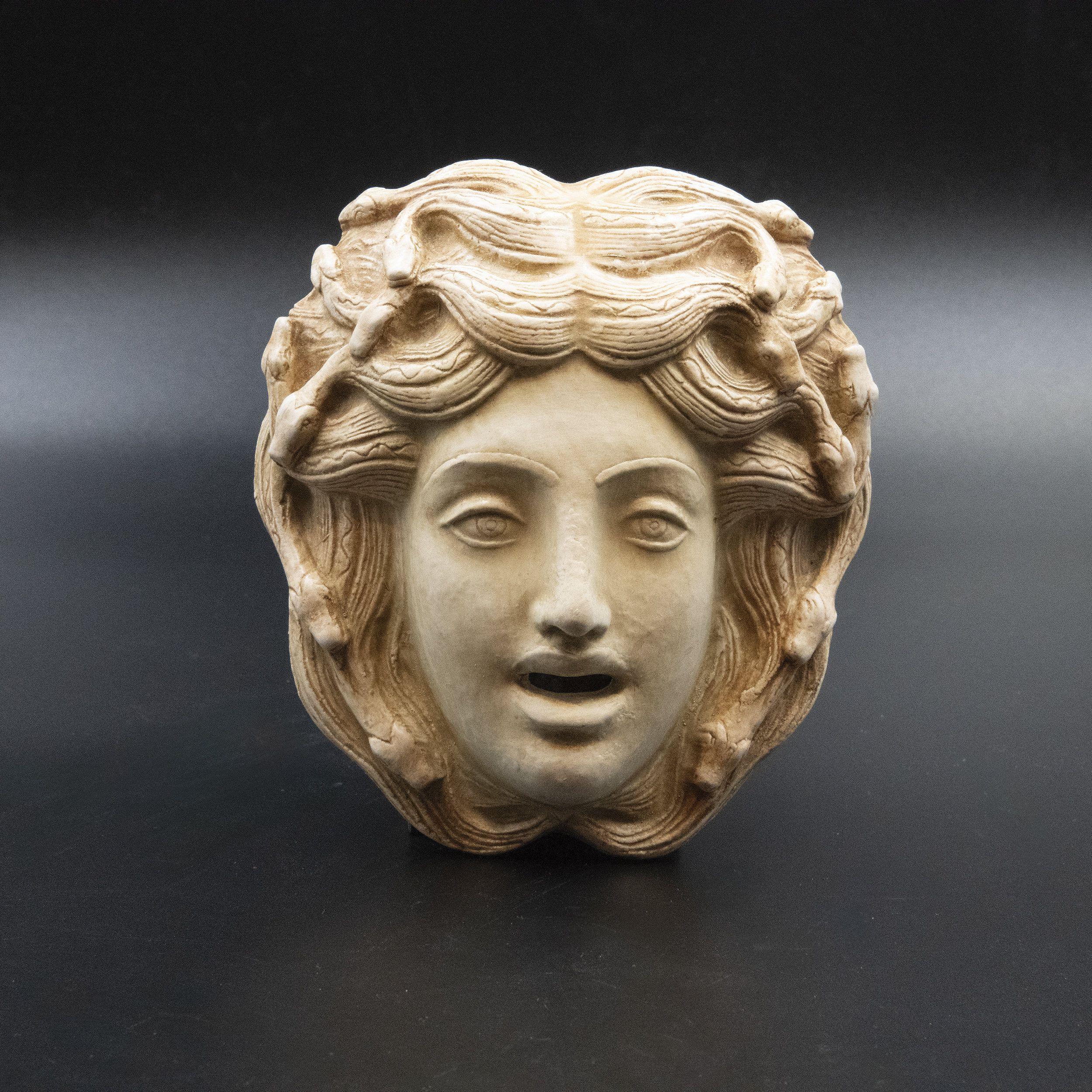 Medusa And Snakes Mask Ancient Greek Monster Head Of Gorgon Etsy Greek Monsters Greek Art Greek Sculpture