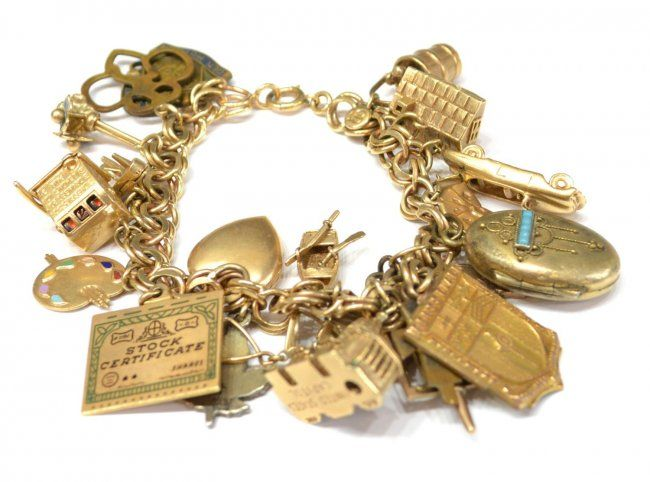 a brief history of the charm bracelet vintage the o