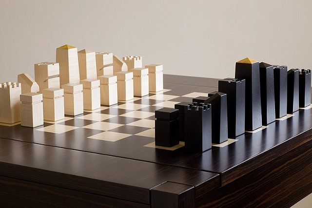 Games table and chairs, macassar ebony