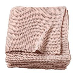 Ingabritta Throw Pale Pink 51x67 Gebreide Dekens Ikea Dekens