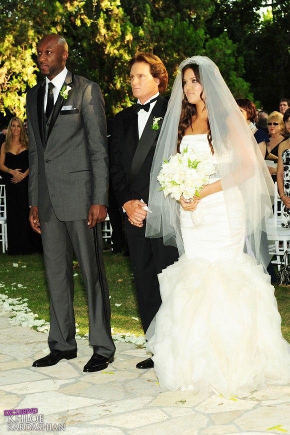 Khloe Kardashianlamer Odom S Wedding Wedding Dresses Mermaid Wedding Dress Celebrity Weddings