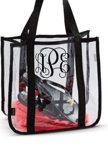 Clear Tote Bag Concert Nfl Roved Swim Beach Monogram Options