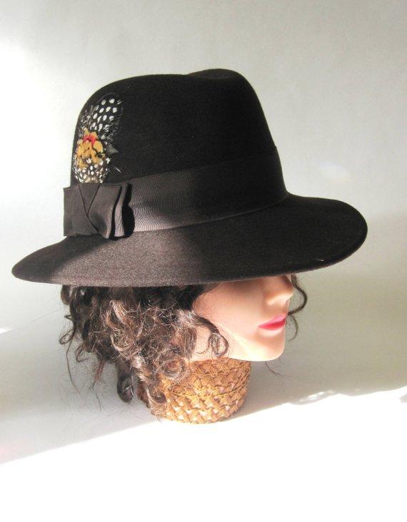 Fedora Hat Chocolate Brown Wool  836668c0102