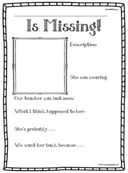 Miss Nelson, Miss Viola Swamp, Miss Nelson Is Missing, Activities For Missu2026  Missing Flyer Template