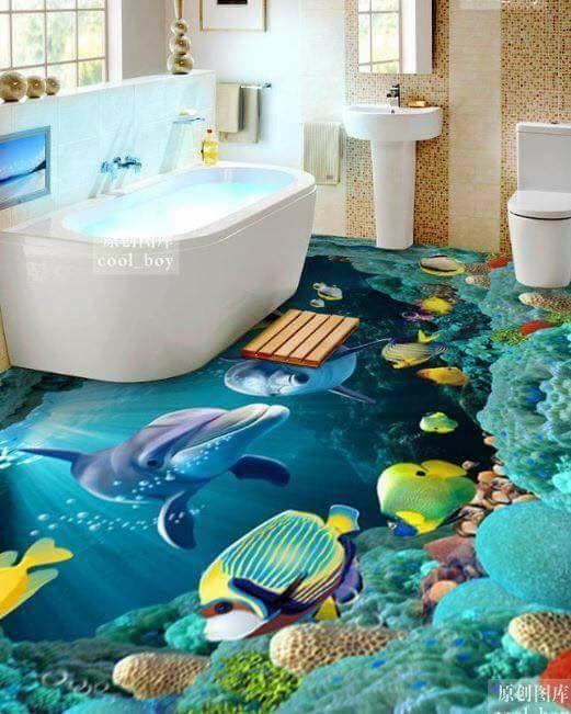 Pinestate Specialists On Epoxy Floors  Pinterest  Bathroom Classy 3D Tiles For Bathroom 2018