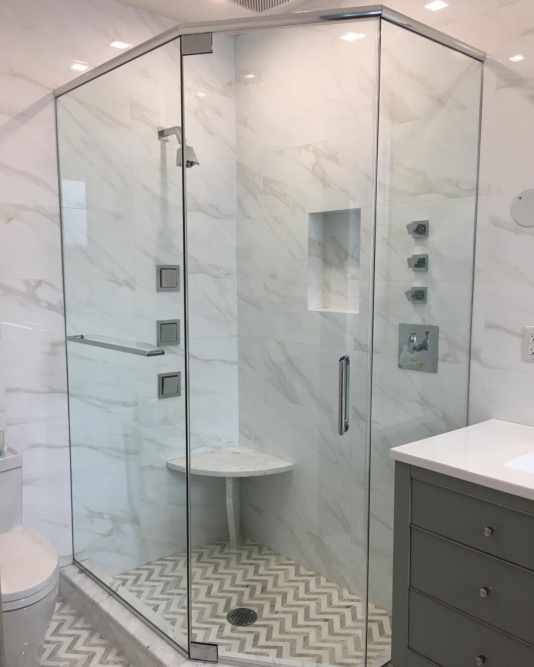 Another Happy Customer Frameless Custom Angle Neo Angle Shower W Header Showerdoor Glasswor Shower Doors Frameless Glass Shower Enclosure Neo Angle Shower