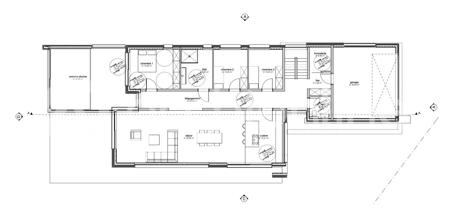 Maison Mexy Plan De Maison Moderne 4 Chambres Plan Maison Et Plan Maison Architecte