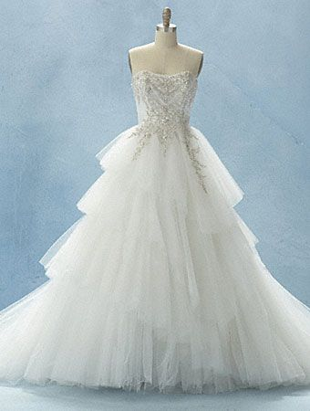 Charmant Alfred Angelo Disney Fairy Tale Bridal Collection Style 209 Called The  Cinderella Platinum
