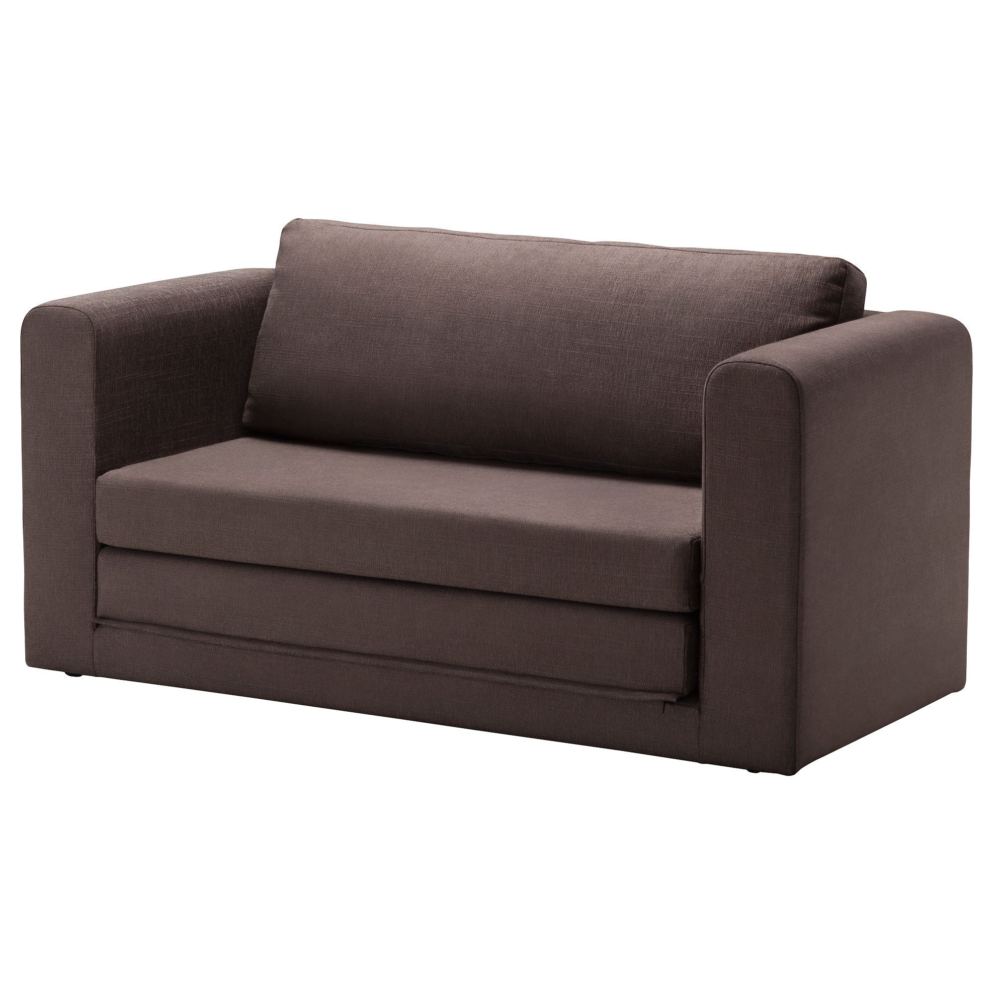 ASKEBY Two seat sofa bed Tullinge grey brown