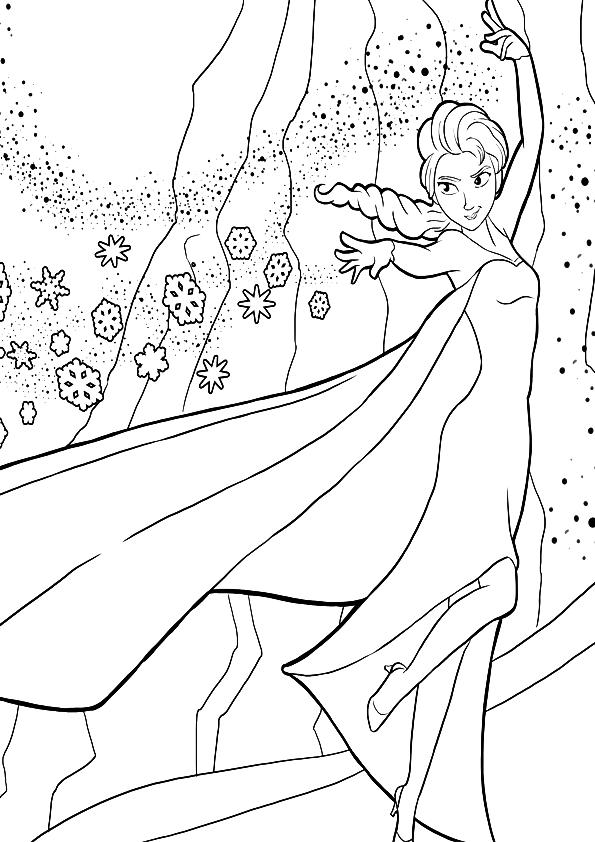 Princesa Elsa de Frozen para colorearPrincesa Elsa de ...