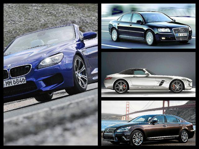 6 de junio de 2013: Los automóviles más exclusivos de Mercedes, BMW, Audi y Lexus.