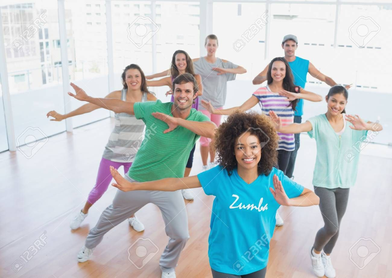 Fitness class and instructor doing pilates exercise in a bright room , #Aff, #instructor, #class, #F...