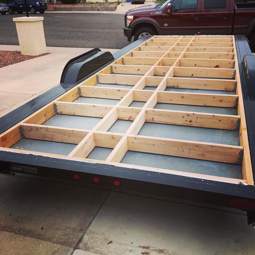 Tiny Home Floor Framing In Place 2x6 With Joist Hangers