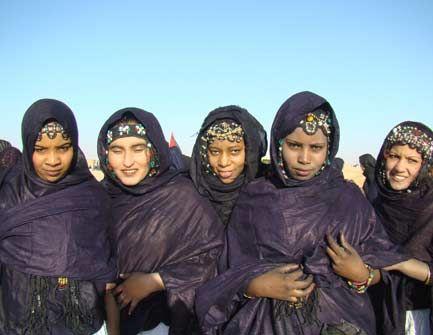 interesting headdress of the Sahraoui women, Morocco