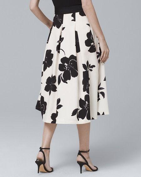 840590804a5 Women s Floral-Print Full Midi Skirt by White House Black Market ...