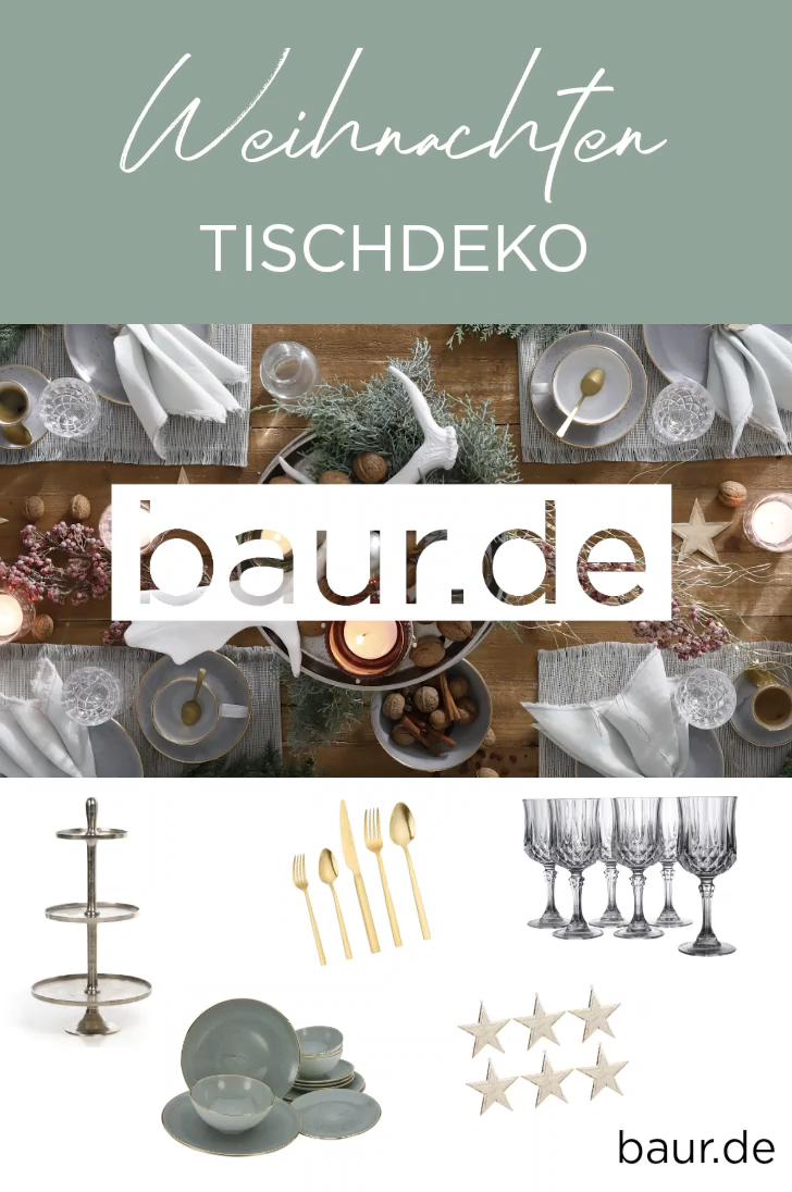 Weihnachten natürliche Tischdeko – jetzt entdecken auf baur.de #baur #weihnachtsdeko #tischdeko