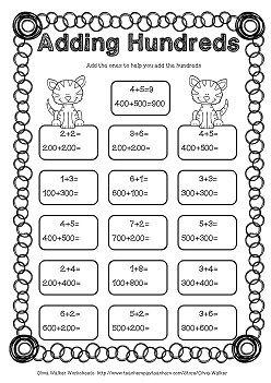 Adding Hundreds Worksheets / Hundreds Addition Worksheets ...
