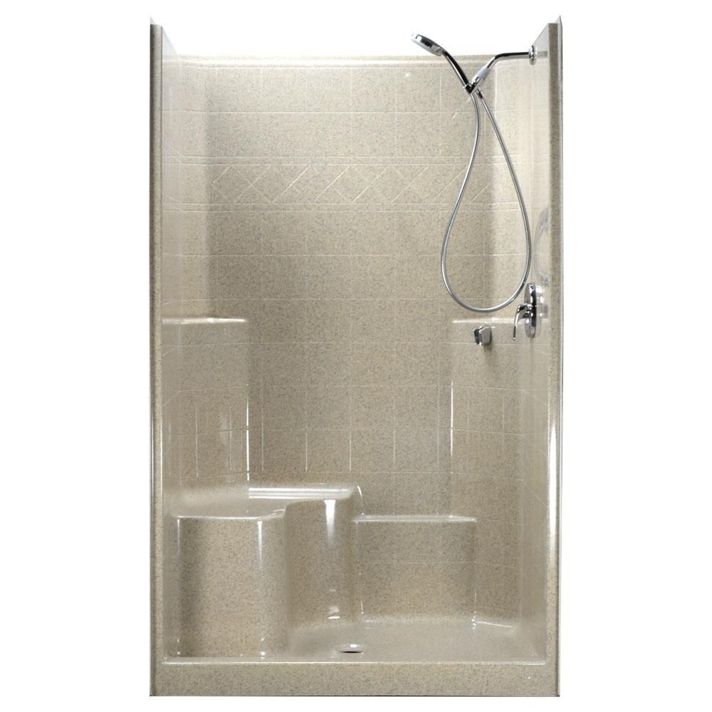 Ella 48 In X 37 In X 80 In 1 Piece Low Threshold Shower Stall