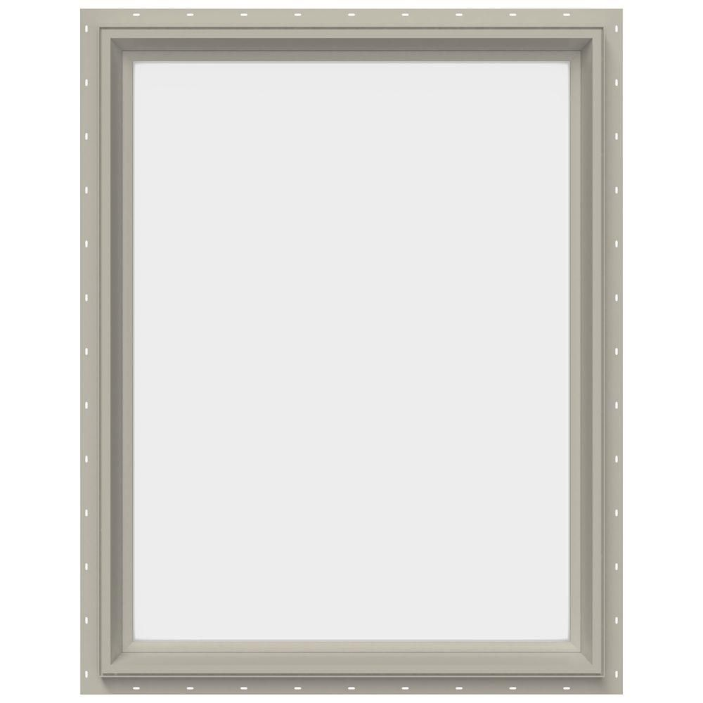 JELD-WEN 29.5 in. x 35.5 in. V-2500 Series Fixed Picture Vinyl Window - Tan