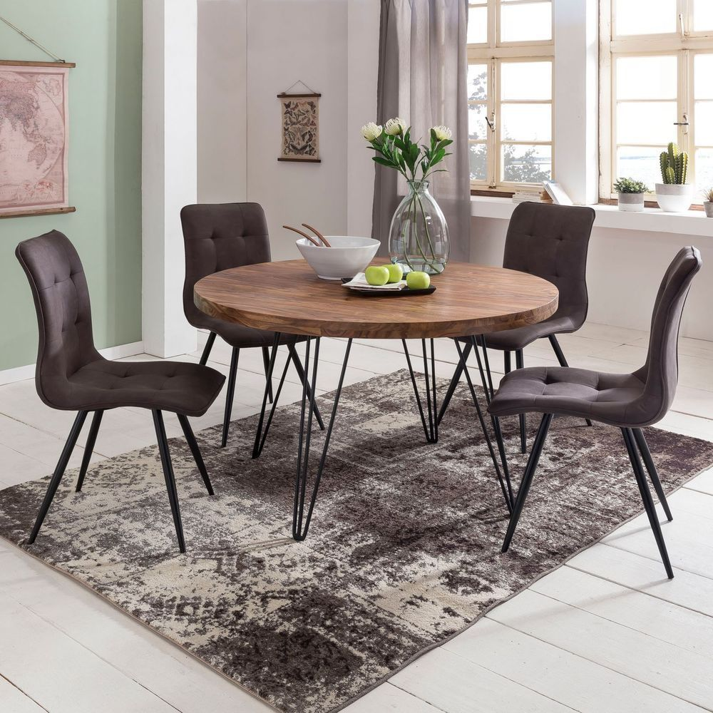 Find Top Offers For Dining Table Round O 120 Cm Solid Wood