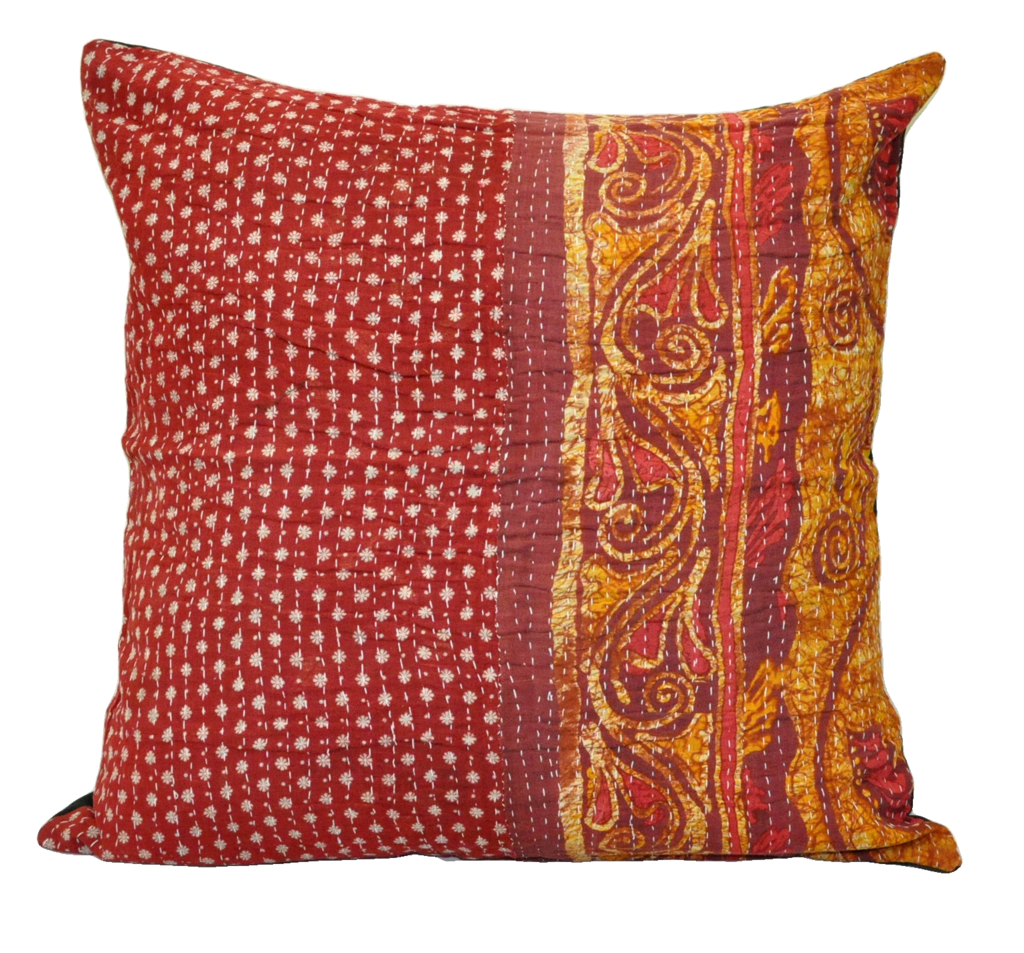 Large Decorative Couch Pillows Bohemian Kantha Cushion Cover - P4 ...