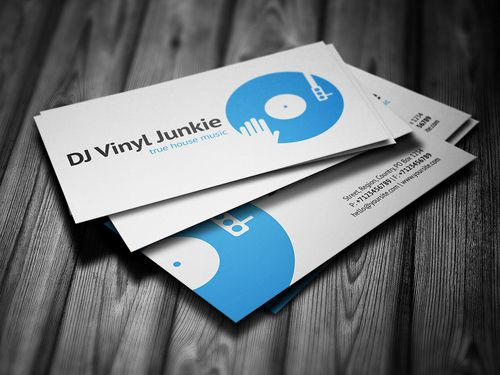 vinyl dj business card businesscards music psdtemplates
