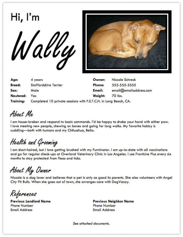 Landing A Dog Friendly Apartment Create A Pet Resume Petfinder Dog Friendly Apartments Dog Friends Dog Boarding Near Me