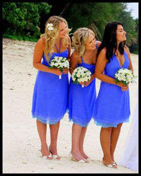 Bridesmaid Dresses Only With Pink And Orange Bouquets