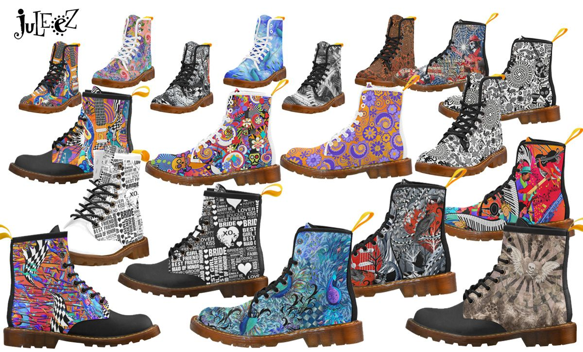 Colorful Martens Style Boots by Juleez