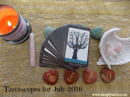 Read your July 2016 Tarotscope written by Patricia at Simply Tarot