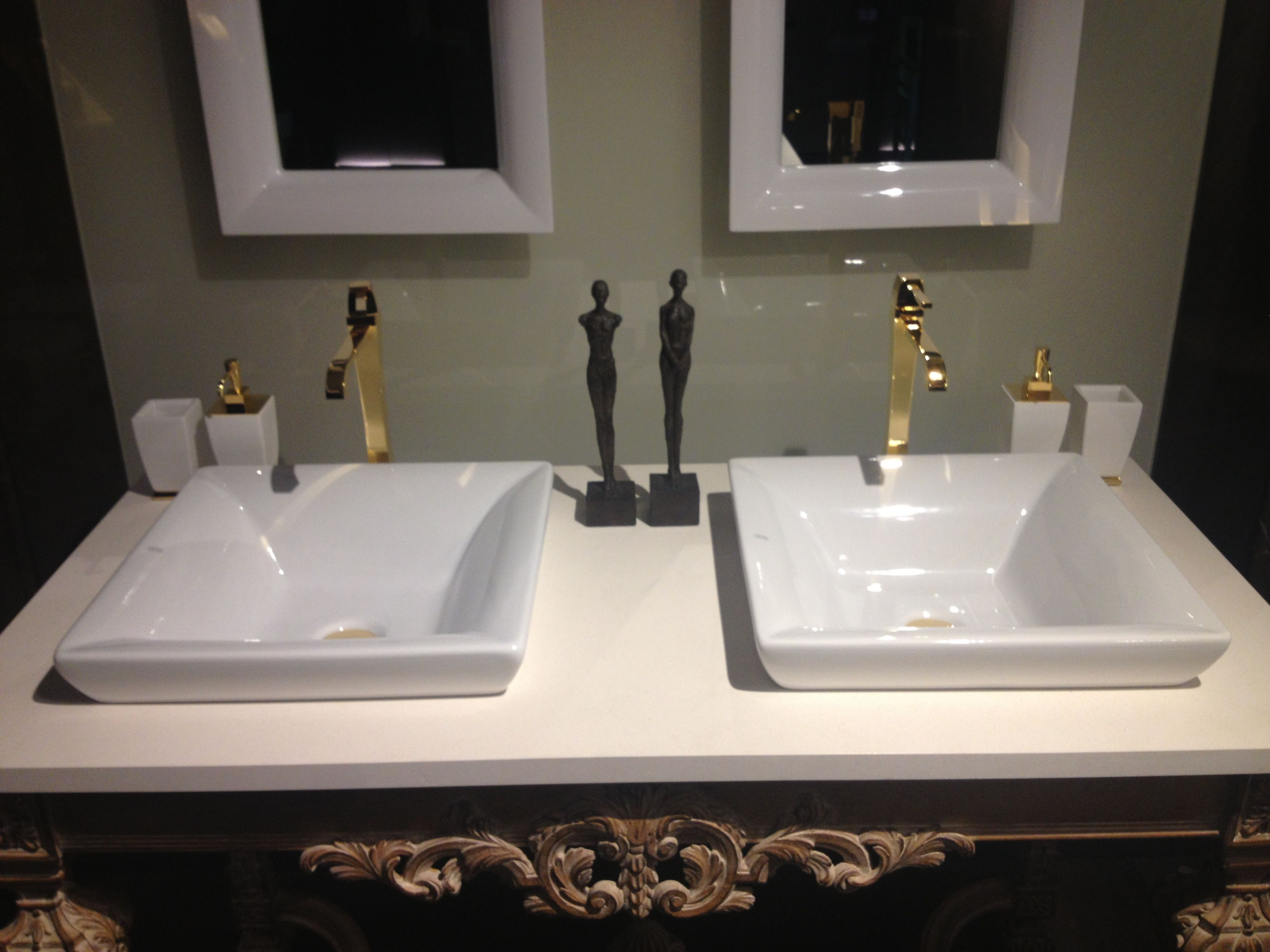 Countertop basins 4 new basin designs from victoria amp albert 2009 - Mimi Semi Drop In Basin Tall Type Basin Mixer