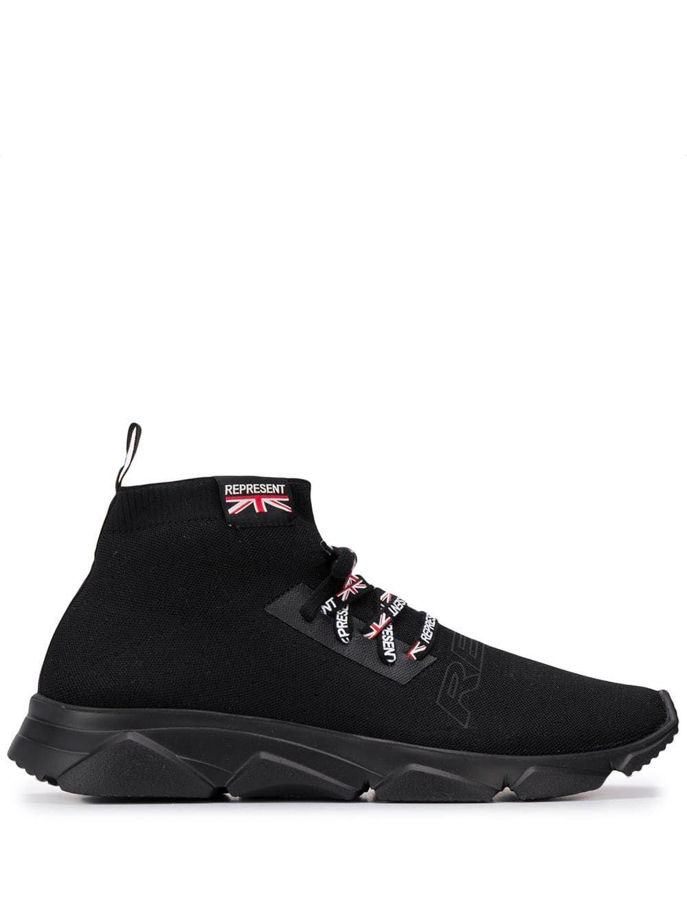 BLACK. #represent #shoes