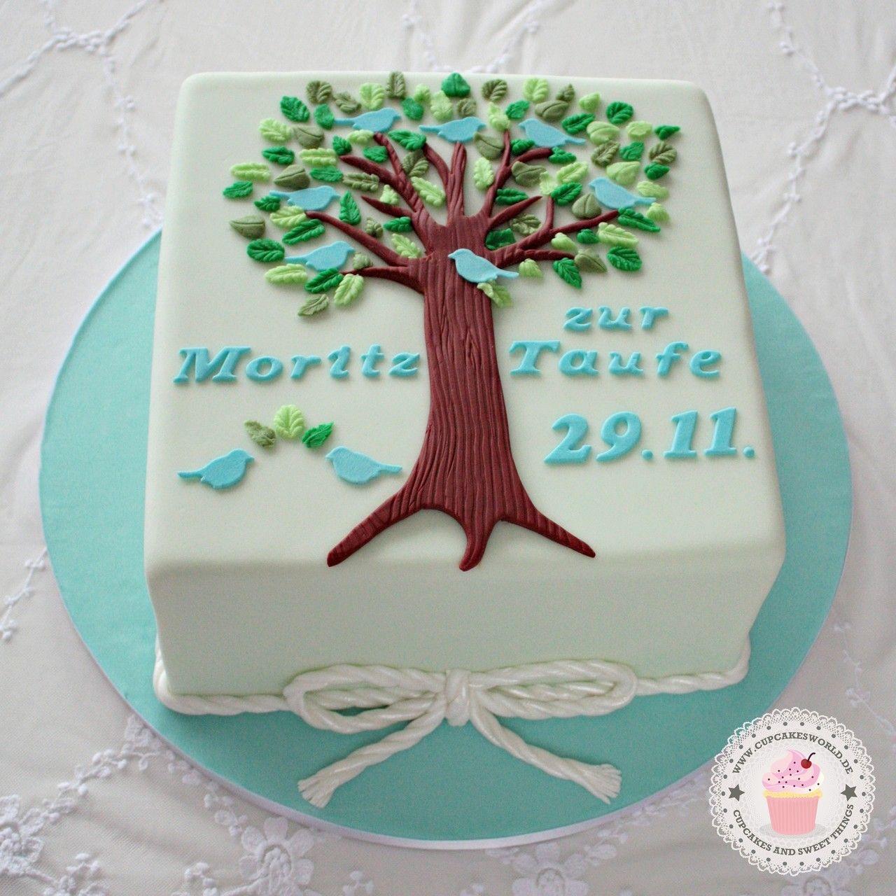 kuchen dekorieren junge tauftorte lebensbaum in blau taufe zur taufe torte. Black Bedroom Furniture Sets. Home Design Ideas