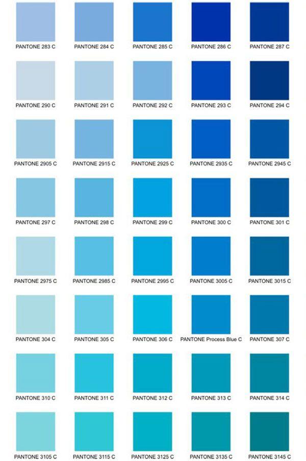 11 Gama de colores azules