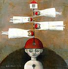 noma bliss art original abstract acrylic mixed media paintings | ILLUSTRATION
