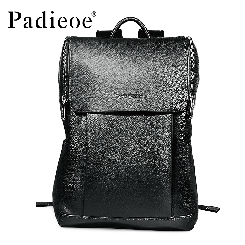 Brand Padieoe Genuine Leather School Bags For Teenagers Backpack Men And  Women Travel Casual Cowhide Laptop Backpack Free Ship 1c650eb24320d