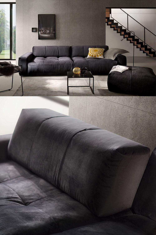 Candy Polstermobel Place Big Sofa In Schwarz Mobel Letz Ihr Online Shop In 2020 Grosse Sofas Wohnen Schwarzes Sofa